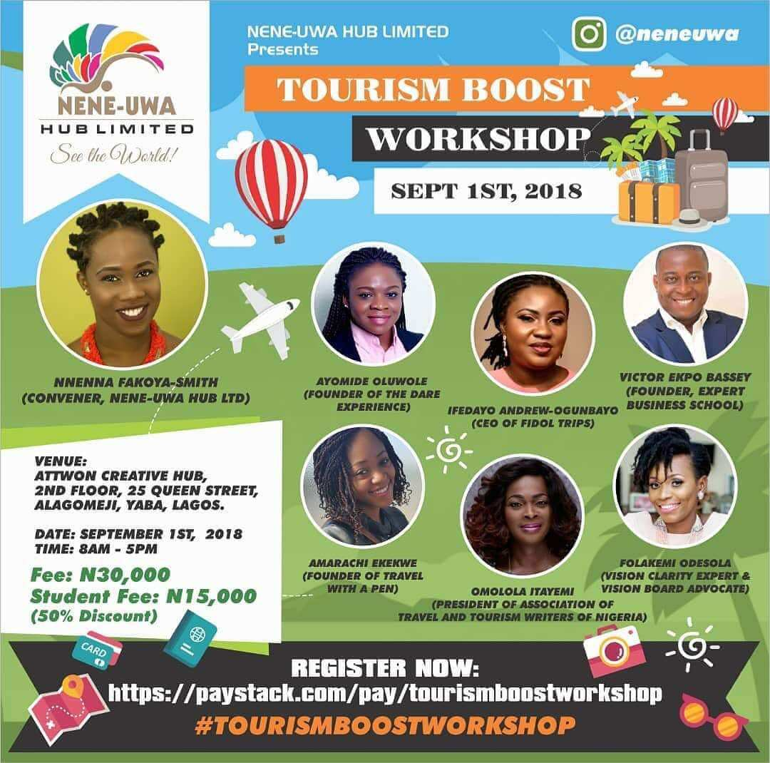 Looking to Enter the Tourism Space? I Recommend This Workshop By Nene-Uwa Hub!